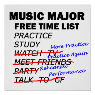Music Major Free Time - Guy Poster