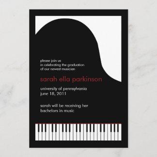 Music Major Grand Piano Graduation Announcement Zazzle_flatannouncementcard