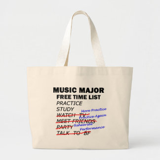 Music Major List - Girl Canvas Bags
