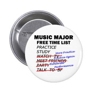 Music Major List - Girl Buttons