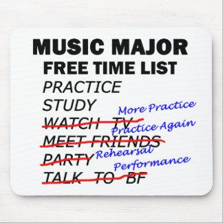 Music Major List - Girl Mouse Pad