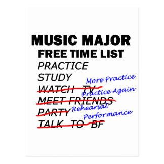 Music Major List - Girl Postcard