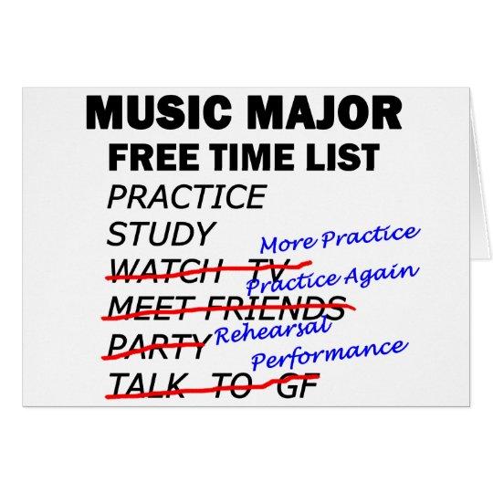 Music Major List - Guy Card