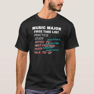 Music Major List - Guy T-Shirt