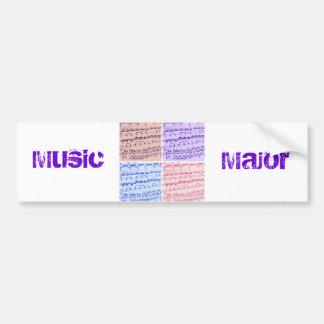 Music Major/Student/Teacher Bumper Sticker