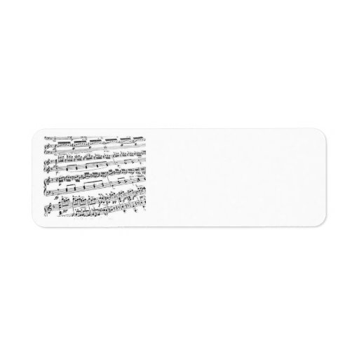Music Major/Student/Teacher Custom Return Address Labels