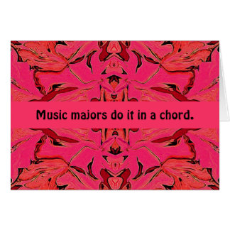 music majors greeting greeting card