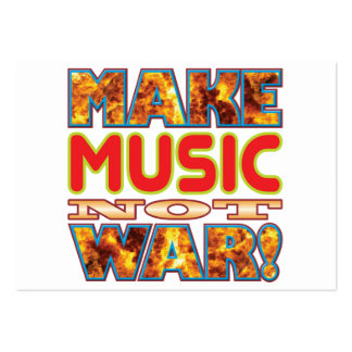 Music Make X Large Business Cards (Pack Of 100)