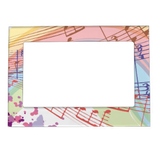Music Maker Art for Musician Student Magnetic Picture Frame