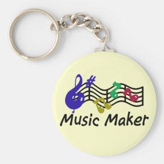 Music Maker Basic Round Button Keychain