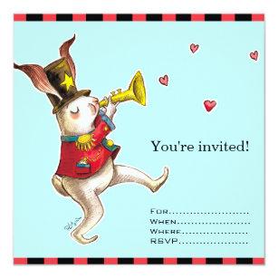 Maker invitations announcements zazzle music maker rabbit invitation card stopboris Gallery