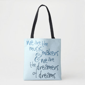 Music Makers - Teal Modern Typography Tote Bag