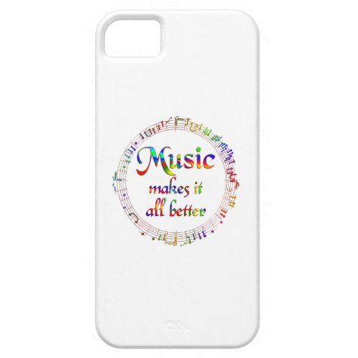 Music Makes It Better iPhone 5 Cases