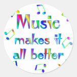 Music Makes it Better Sticker