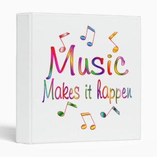 Music Makes it Happen 3 Ring Binder