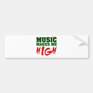Music Makes Me High Bumper Sticker