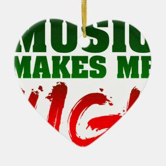 Music Makes Me High Ceramic Ornament