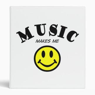 Music Makes Me Smile Binder
