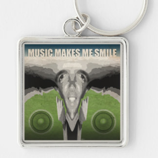 Music Makes Me Smile Keychain