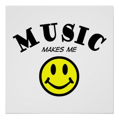 Music Makes Me Smile Posters