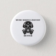 Music Makes My Day Button