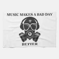 Music Makes My Day Kitchen Towel