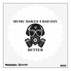 Music Makes My Day Wall Sticker