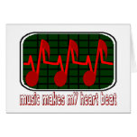 Music Makes My Heart Beat Cards