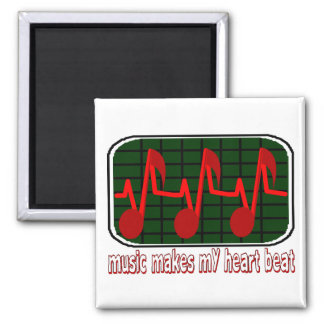 Music Makes My Heart Beat Magnet