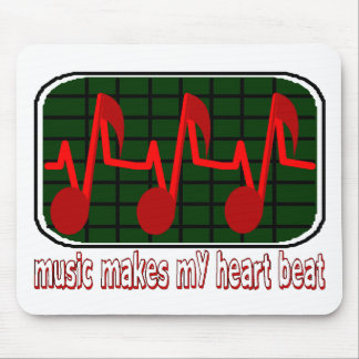 Music Makes My Heart Beat Mouse Pad