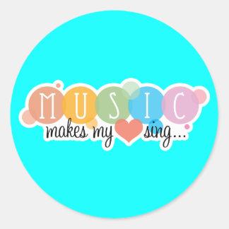 Music Makes My Heart Sing Sticker