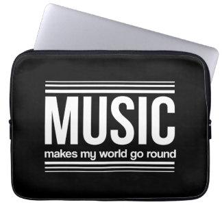 Music Makes My World Go Round Computer Sleeve