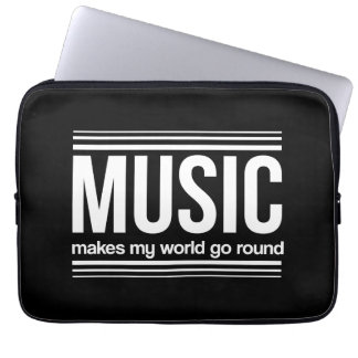 Music Makes My World Go Round Laptop Sleeves
