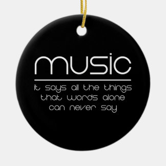 Music Makes My World Go Round Double-Sided Ceramic Round Christmas Ornament