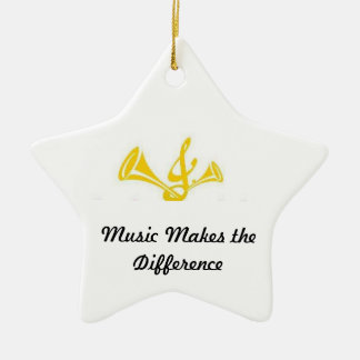 Music Makes the Difference Ceramic Ornament