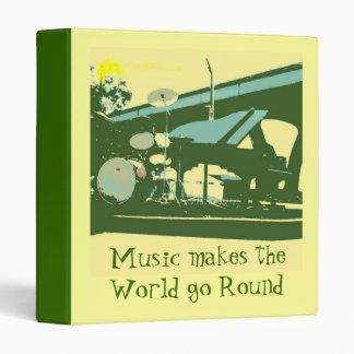 Music makes the World go Round Binder