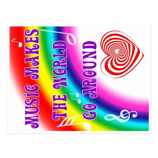 Music Makes the World Go Round Postcard