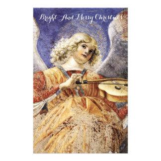 MUSIC MAKING ANGEL Christmas Greetings Stationery