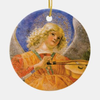 Music Making Angel Vintage Style Holiday Ornament