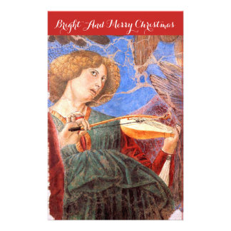 MUSIC MAKING CHRISTMAS ANGEL AND STRING INSTRUMENT STATIONERY