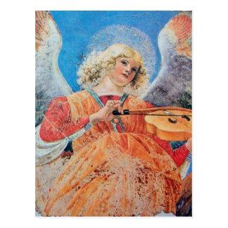MUSIC MAKING CHRISTMAS ANGEL POSTCARD