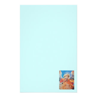 MUSIC MAKING CHRISTMAS ANGEL Teal Blue Stationery