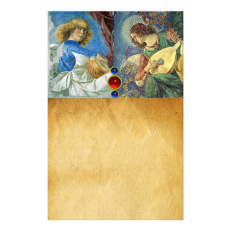 MUSIC MAKING CHRISTMAS ANGELS Parchment Stationery