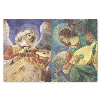 MUSIC MAKING CHRISTMAS ANGELS TISSUE PAPER