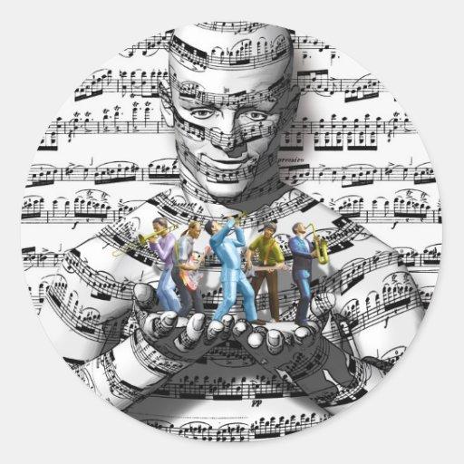 Music Man Classic Round Sticker