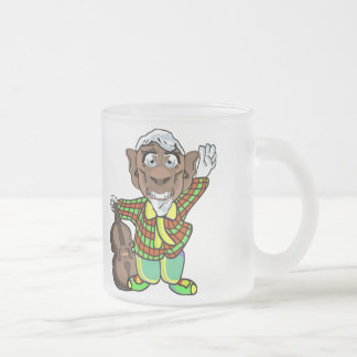 Music Man Frosted Glass Coffee Mug