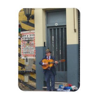 Music Man on Street in Buenos Aires Magnet