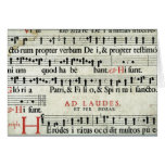 Music Manuscript Card
