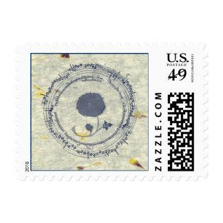 Music Manuscript Flower Stamp