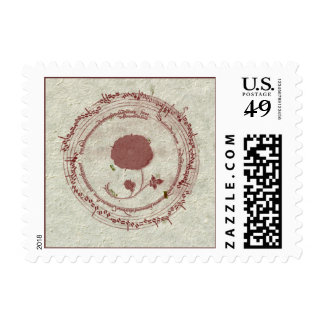 Music Manuscript Flower Stamps